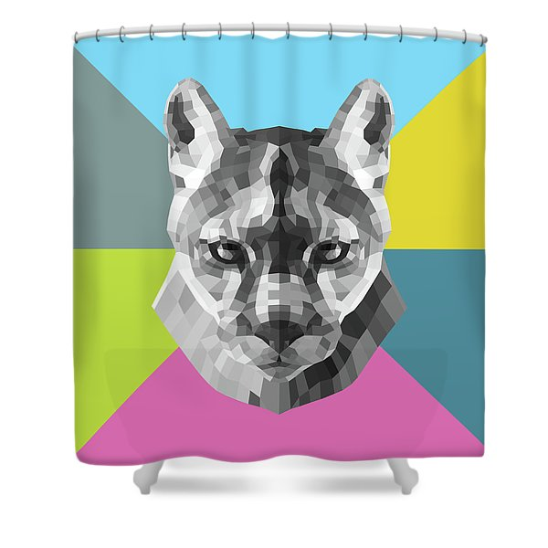 Party Mountain Lion Shower Curtain