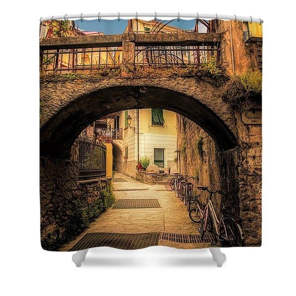 Passageway In Monterosso Shower Curtain