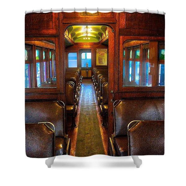 Passenger Train Memories Shower Curtain