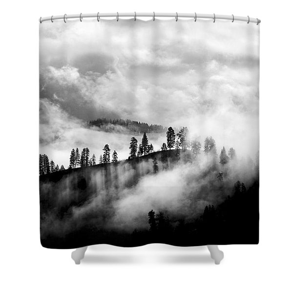 Passing Storm Central Idaho Mountains Shower Curtain