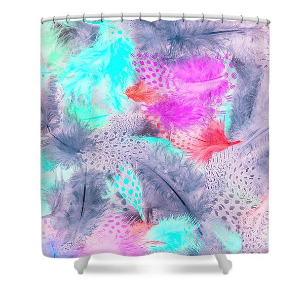 Pastel Plumes Shower Curtain