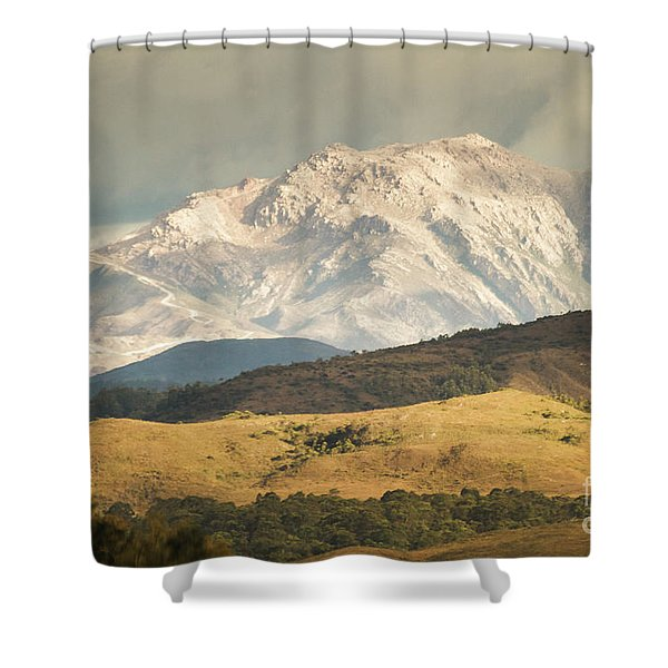 Pastoral Peaks  Shower Curtain