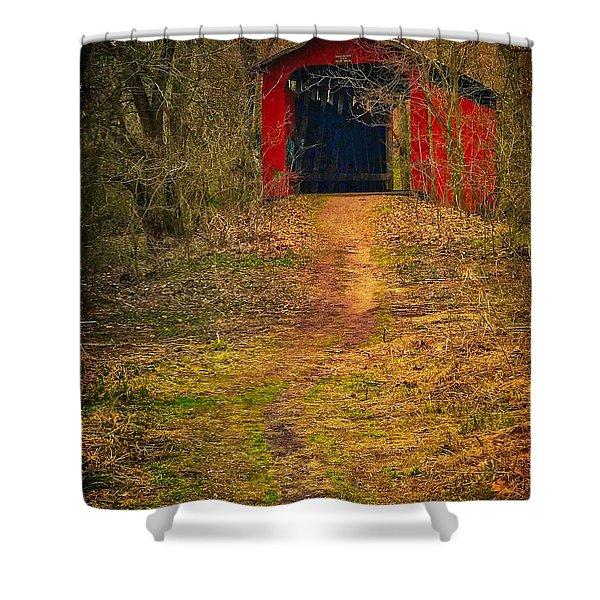 Path To Bridge Shower Curtain