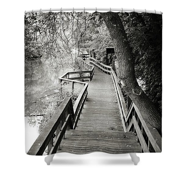 Pathway Shower Curtain