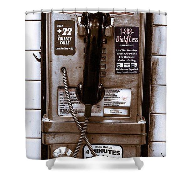 Payphone Shower Curtain