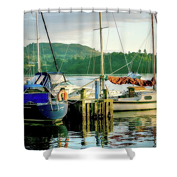 Peace In Lake Windermere Shower Curtain