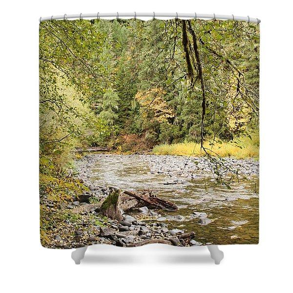 Peaceful Molalla River Shower Curtain