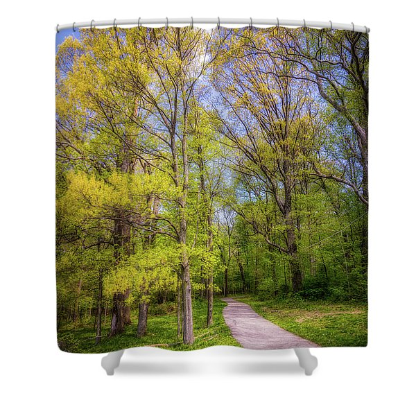 Peaceful Pathway Shower Curtain