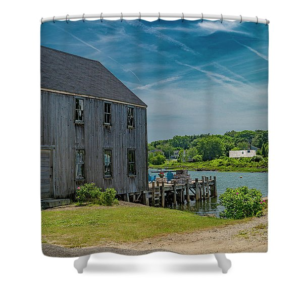 Peaceful View Near Kennebunkport Shower Curtain