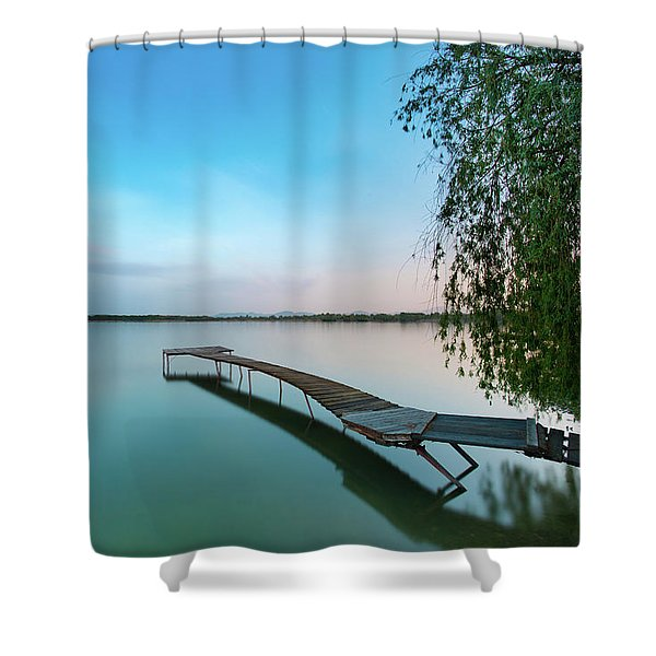 Peacefull Waters Shower Curtain