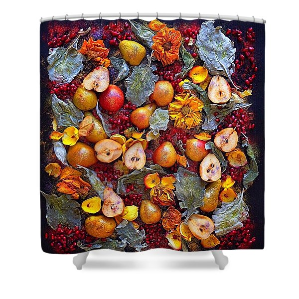 Pear Livable Tapestry Shower Curtain