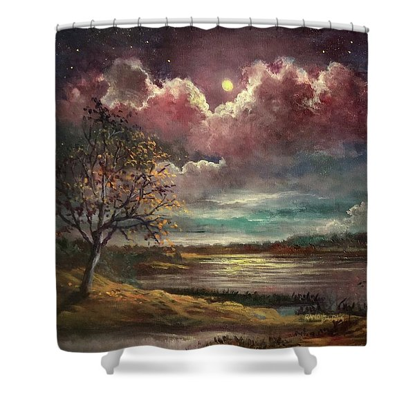 Pearl Of The Night Shower Curtain