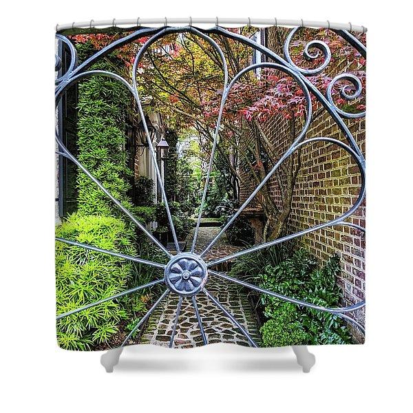 Peek-a-boo Garden Shower Curtain