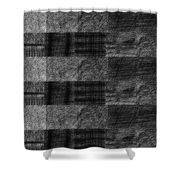 Pencil Scribble Texture 1 Shower Curtain