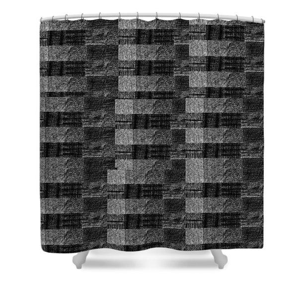 Pencil Scribble Texture 2 Shower Curtain