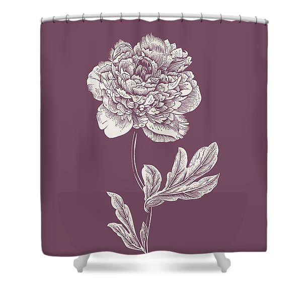 Peony Purple Flower Shower Curtain