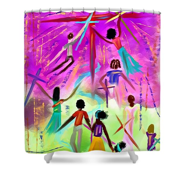 People Of The Cross Shower Curtain