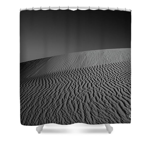Perry Sandhills Black And White Shower Curtain