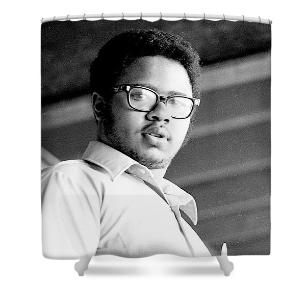 Perturbed High School Student, With Substantial Eyeglasses, 1972 Shower Curtain