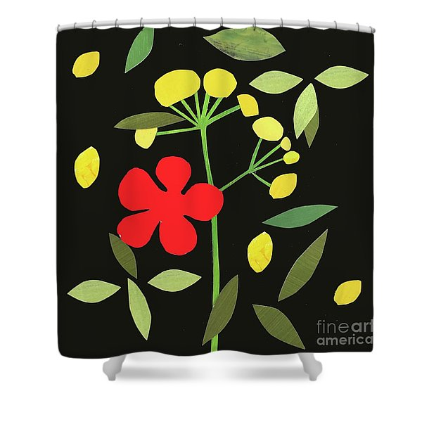 Petals And Leaves Shower Curtain