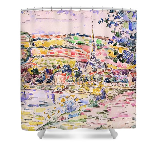 Petit Andely-the River Bank - Digital Remastered Edition Shower Curtain