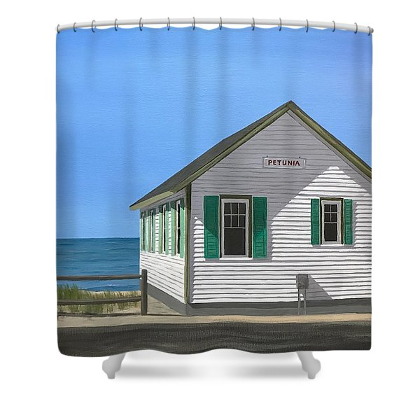 Petunia Shower Curtain