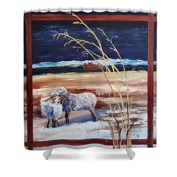 Phil And Alice Navajo Sheep    38 Shower Curtain