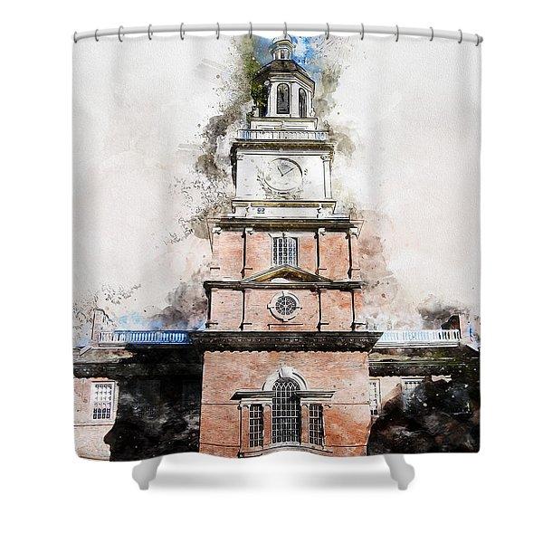 Philadelphia Independence Hall - 01 Shower Curtain