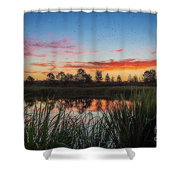 Phinizy Swamp Sunrise - Augusta Ga Shower Curtain
