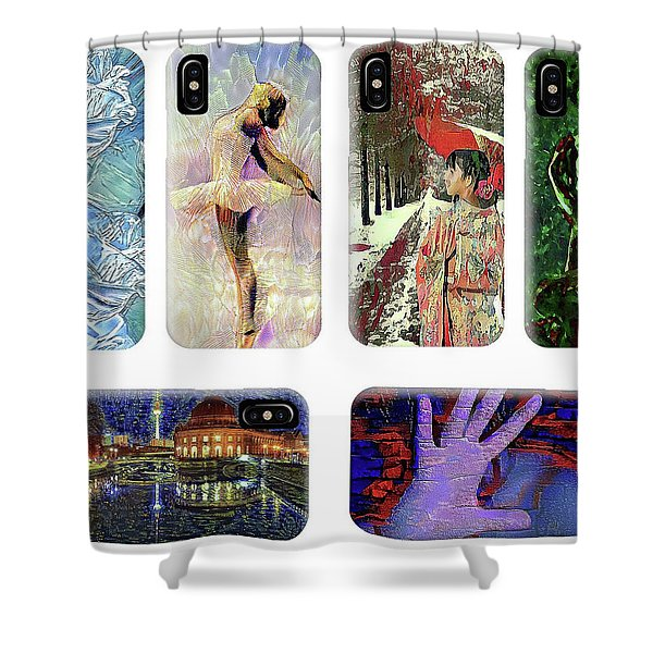 Phone Cases Samples Shower Curtain