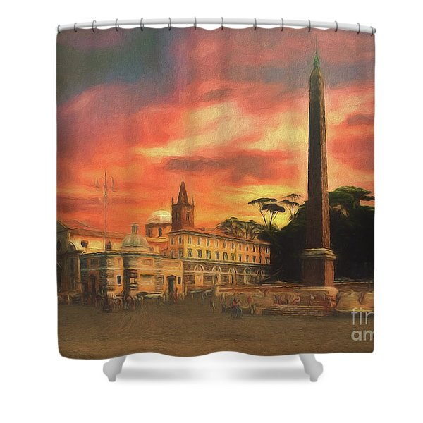 Piazza Del Popolo Rome Shower Curtain