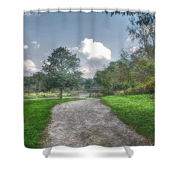 Pickerington Ponds Walkway Shower Curtain