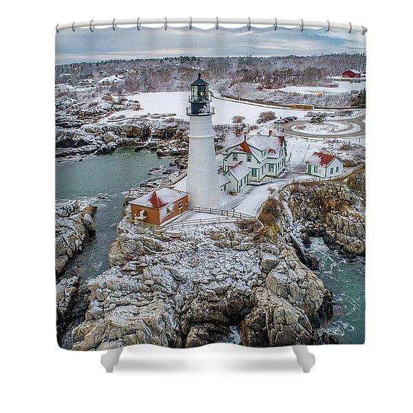 Picturesque Maine  Shower Curtain