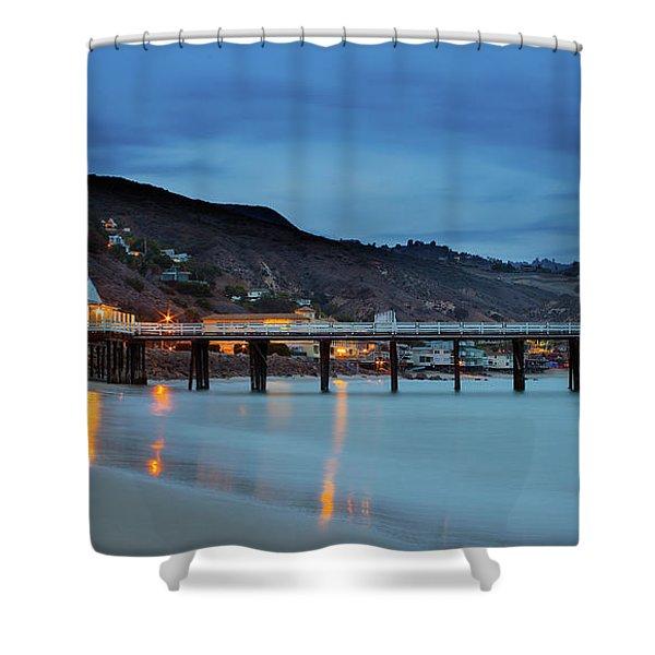 Pier House Malibu Shower Curtain