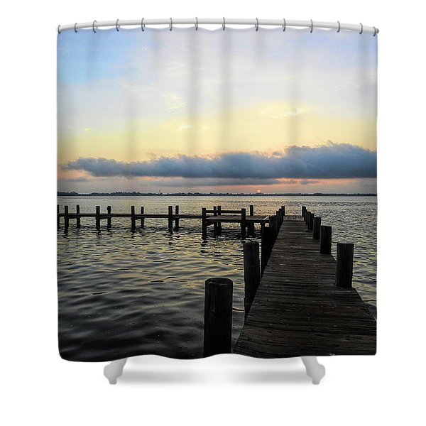 Pier Into Morning Shower Curtain
