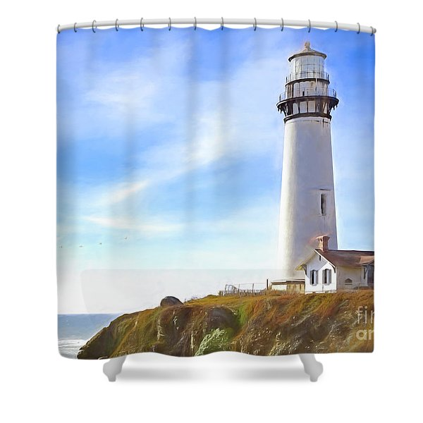 Pigeon Point Lighthouse Ca Shower Curtain