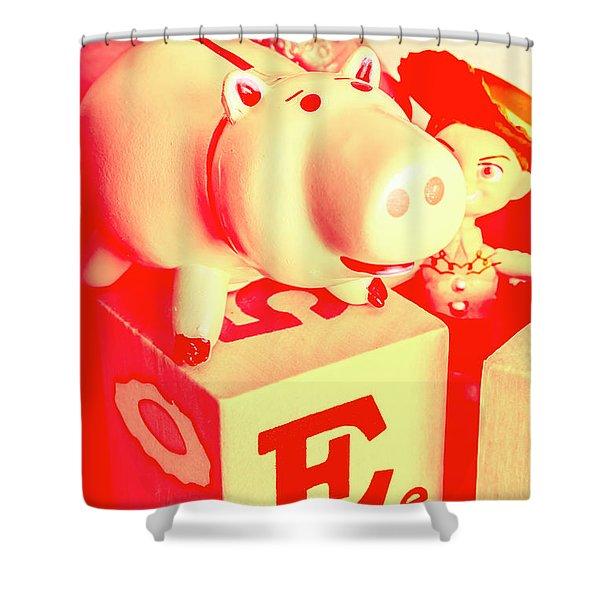 Piggybank Poster Shower Curtain