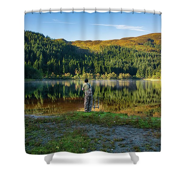 Pike Fisherman Shower Curtain