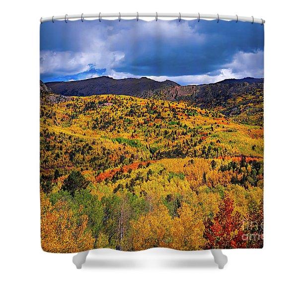 Pikes Peak Autumn Shower Curtain