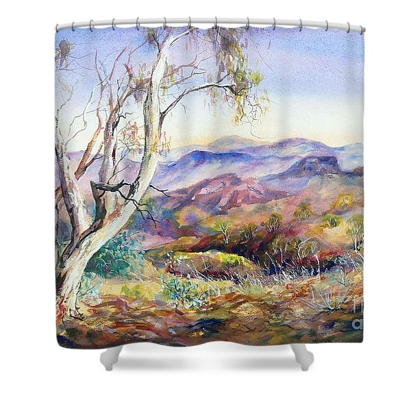 Pilbara, Hamersley Range, Western Australia. Shower Curtain