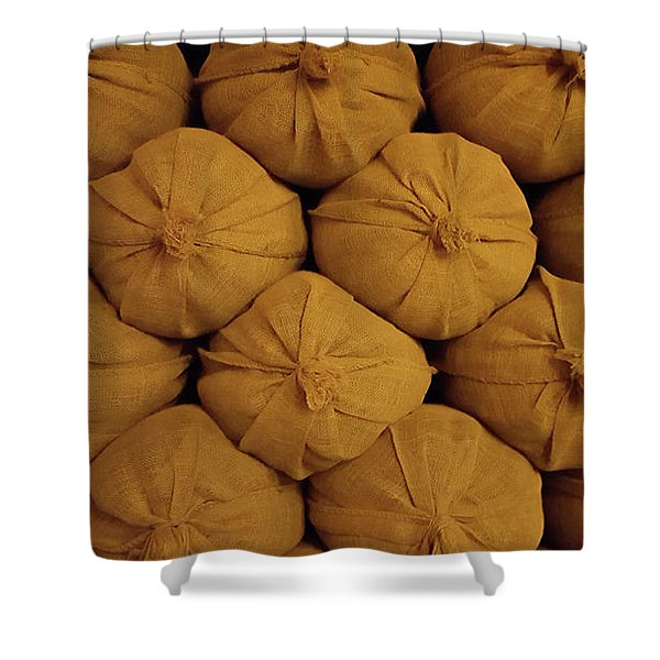 Pile Of Sacks Shower Curtain