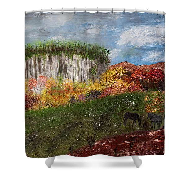 Pilot Mountain Shower Curtain