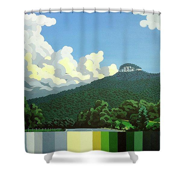 Pilot Mountain - Summer Shower Curtain