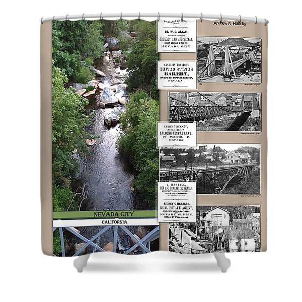Pine Street Bridge, Nevada City, Ca Shower Curtain
