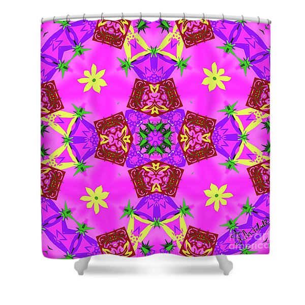 Pink 3 Shower Curtain