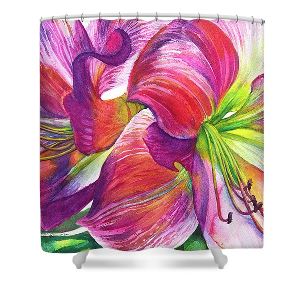 Pink Amarylis Shower Curtain