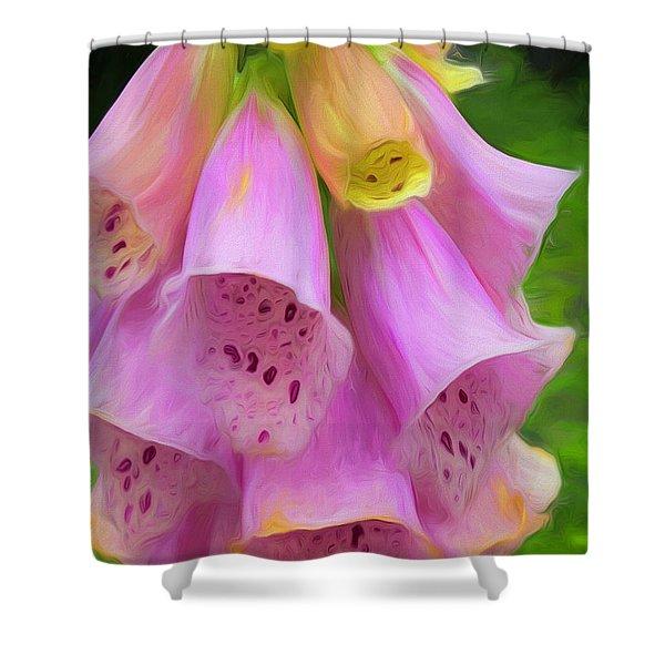 Pink Bells Shower Curtain