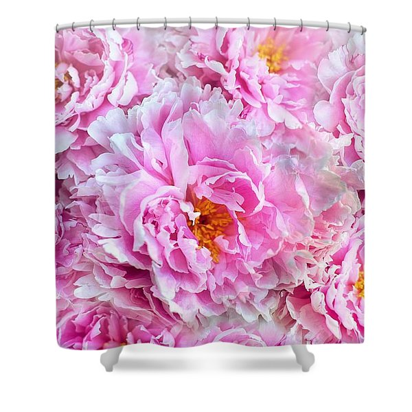 Pink Flowers Everywhere Shower Curtain