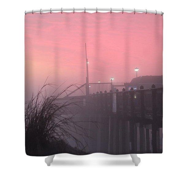 Pink Fog At Dawn Shower Curtain