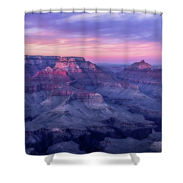 Pink Hues Over The Grand Canyon Shower Curtain